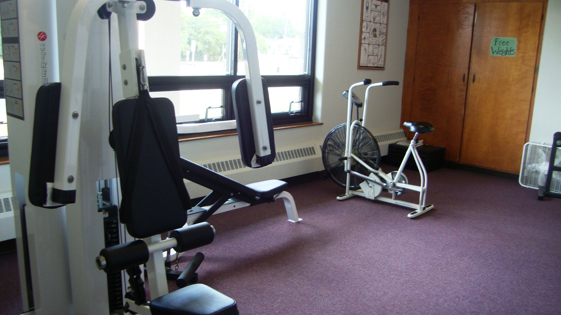 The Oak exercise room